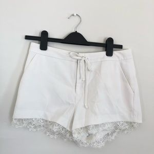 Forever 21 White Lace Shorts